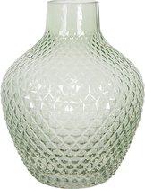 Clayre & Eef Vaas 6GL2936GR Ø 16*20 cm - Groen Glas Glazen VaasBloempot Binnen