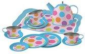 Theeservies voor Kinderen - Metaal - Speelgoed Servies in Koffertje - Confetti