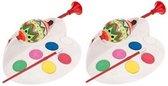 2x Paaseieren schildersetje 6 kleuren - Pasen verfmolen - Eierverfmolen - Paaseitjes beschilderen