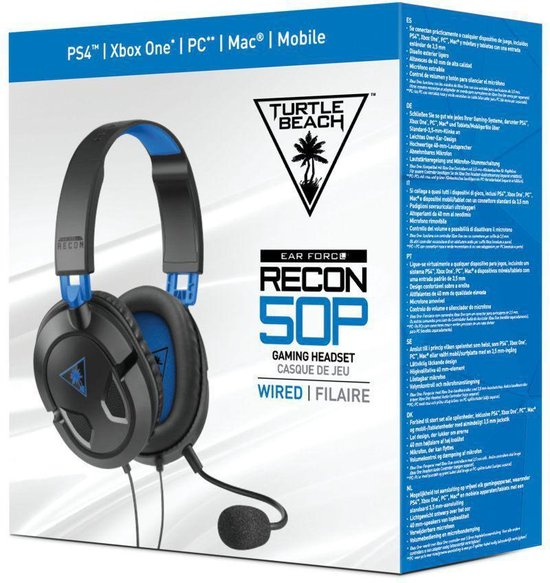 Turtle Beach Ear Force Recon 50P Gaming Headset - PS4 & PS5 - Turtle Beach