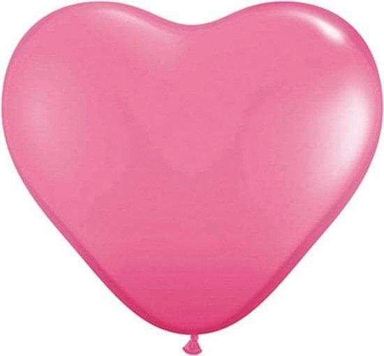 Folat Ballonnen Hart 15 Cm Latex Roze 100 Stuks