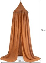 Jollein Klamboe Vintage 245cm - Caramel - La Bella Rose