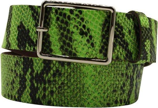 Groene riem – Fluo Python Green Dames riem – Broekriem Dames – Dames riem – Dames riemen – heren riem – heren riemen – riem – riemen – Designer…