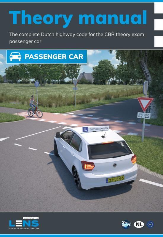 Boek cover Lens verkeersleermiddelen  -   Theory manual passenger car with exam training van P. Somers (Paperback)