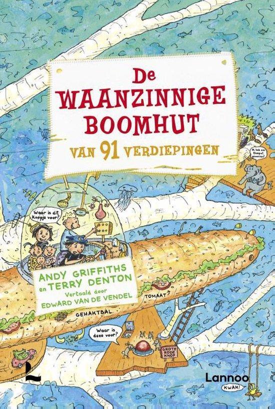 Boek cover De waanzinnige boomhut (7) - De waanzinnige boomhut van 91 verdiepingen van Andy Griffiths (Hardcover)