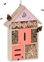 relaxdays insectenhotel groot - vlinderkast - bijenhotel - bijenhuis - insectenhuis - hout