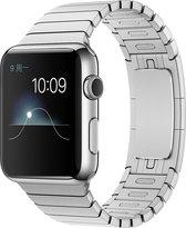Schakelarmband Geschikt voor Apple watch 38mm / 40mm stainless steel bandje - Zilver - Geschikt voor Apple watch bandjes