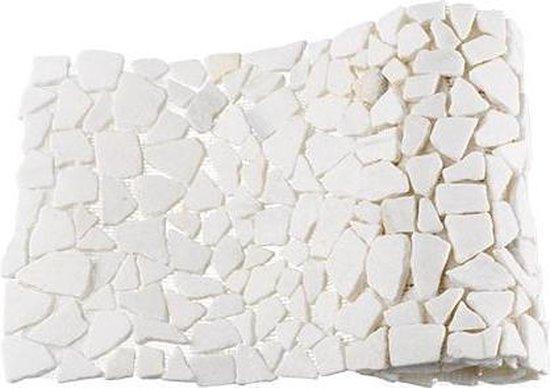 Mozaiek Beachstone rol wit 34,0x150,0 -  Wit Prijs per 1 rol. - max4home
