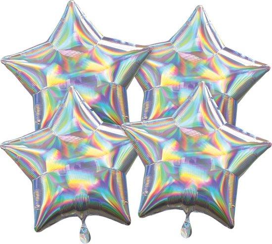 Amscan Folieballonnen Ster 41 Cm Zilver 4 Stuks