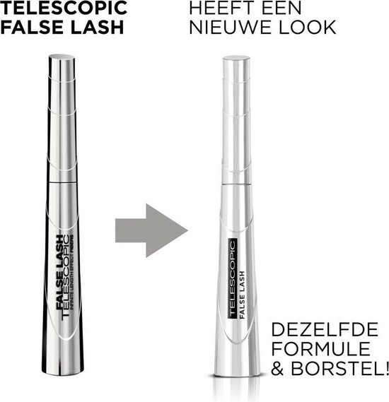 L'Oréal Paris False Lash Telescopic Mascara - Zwart