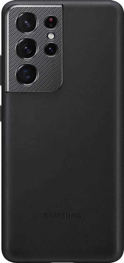 Samsung Leather Hoesje - Samsung S21 Ultra - Zwart