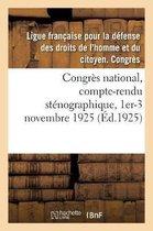 Congres national, compte-rendu stenographique, 1er-3 novembre 1925