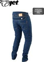 JET - Motorbroek Spijkerboek - Kevlar Safety Broeken Aramide gevoerd CE - Protectie Stretch Panels Tech Pro (Blauw, W 32 L 32)