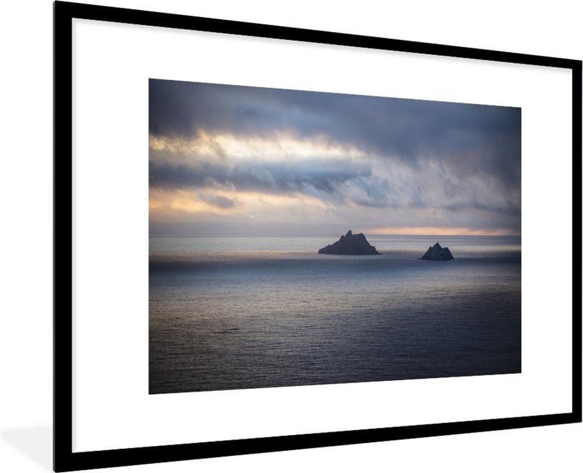 Poster met lijst Ierse Eilanden - Iveragh peninsula - fotolijst zwart - 90x60 cm - Poster met lijst