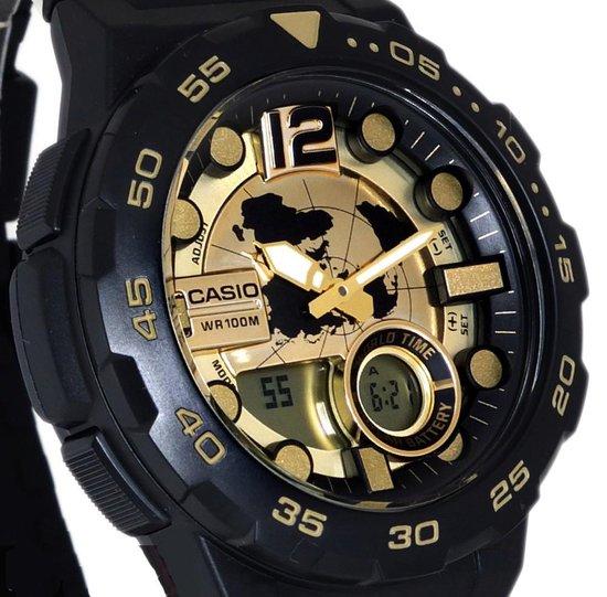 Casio AEQ-100BW-9AVEF - Horloge - Kunststof - Blauw - 47.7 mm - Casio