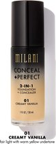 Milani Conceal & Perfect 2-in-1 Foundation and Concealer - 01 Creamy Vanilla