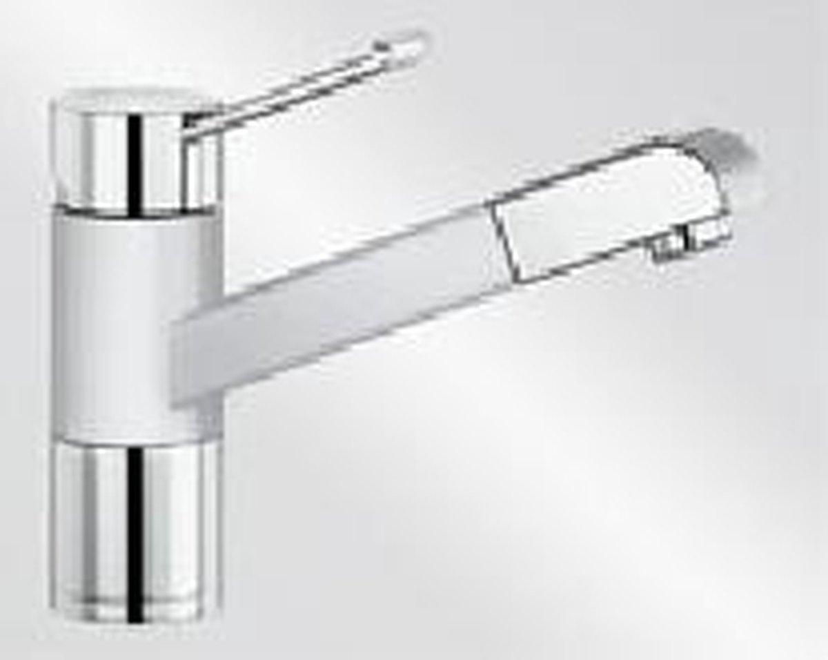 Blanco Zenos-S KER wit uittrekbare handdouche 517832 keukenkraan