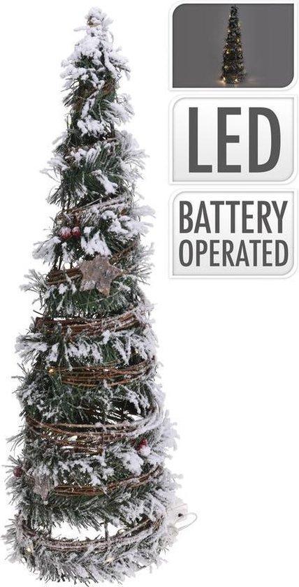Bol Com Kerstboom Decoratie 60 Cm Met Warm Wit Led Licht Op Batterij