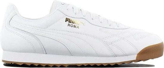 Puma Roma Anniversario 366673-03 - Sneaker Sportschoenen Schoenen Leer Wit  - Maat EU 40.5 UK 7