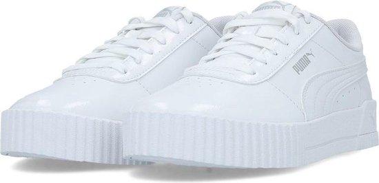 Puma Carina P wit lak sneakers dames (370912-02)