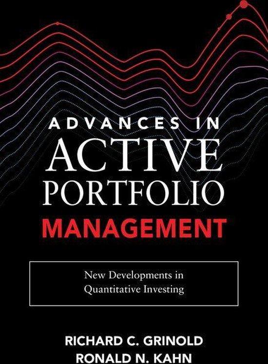 Boek cover Advances in Active Portfolio Management: New Developments in Quantitative Investing van Ronald N. Kahn (Onbekend)