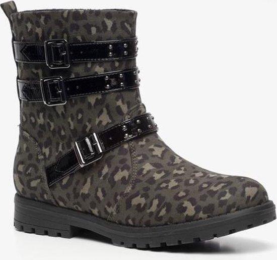Blue Box meisjes leopard enkellaarsjes Groen Maat 36