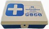 Premium 40-delige EHBO Verband Set - EHBO-set - Verbandset - Verbandtrommel - First Aid Kit - Verbanddoos Geschikt voor Huis Auto Camping en Boot - EHBO Doos