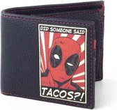 Marvel Deadpool Portemonnee Tacos Zwart