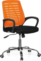 hjh office Vido Net - Bureaustoel - Zwart / oranje