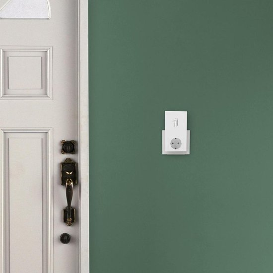 Byron DB433E -Draadloze deurbel duopack - 50m - Plug-in deurbel met stopcontact - Beldrukker - Wit - Byron