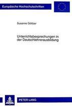 Unterrichtsbesprechungen in Der Deutschlehrerausbildung