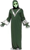 Alien kostuum space pak groen ufo met masker - one size - S M L XL
