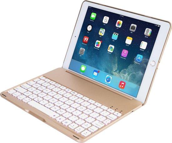 iPad Air 2 Case met Bluetooth verlicht toetsenbord Goud