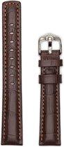 Hirsh Horlogeband -  Grand Duke Donkerbruin - Leer - 22mm