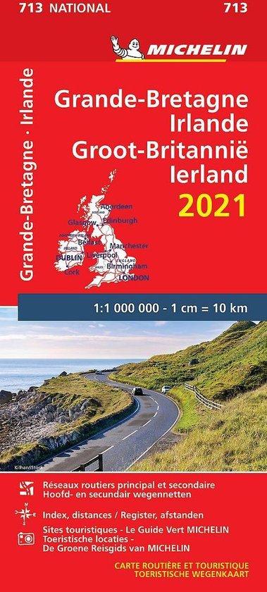 Boek cover Nationale kaarten Michelin  -   Michelin 713 Groot-Brittanië, Ierland 2021 van  (Onbekend)