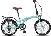 Umit Cunda V6 vouwfiets Turquoise