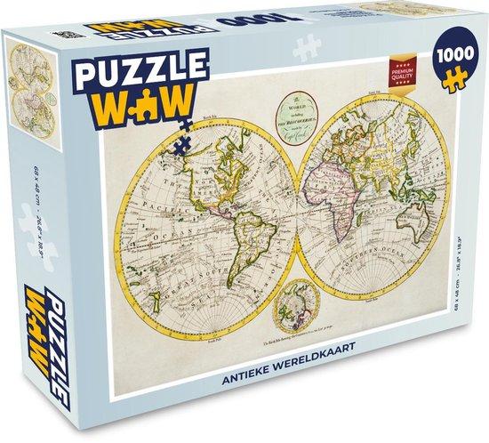 Puzzel 1000 stukjes volwassenen Wereldkaarten 1000 stukjes - Antieke wereldkaart  - PuzzleWow heeft +100000 puzzels