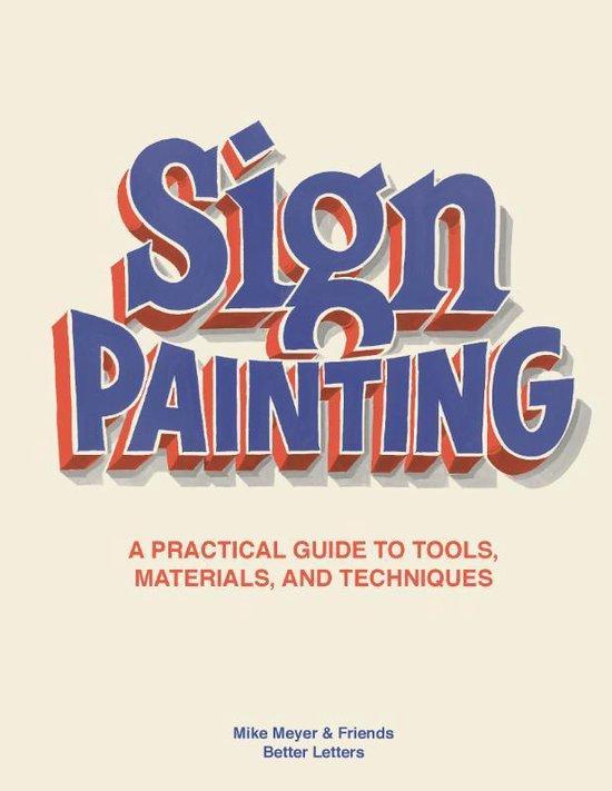 Boek cover Sign Painting van Mike Meyer (Hardcover)