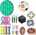 Fidget toys pakket 24 stuks Pack Fidget Zintuiglijke Speelgoed Set Stress Relief Speelgoed Autisme Angst Relief Stress Pop Bubble fidget Speelgoed Voor Kinderen Volwassenen