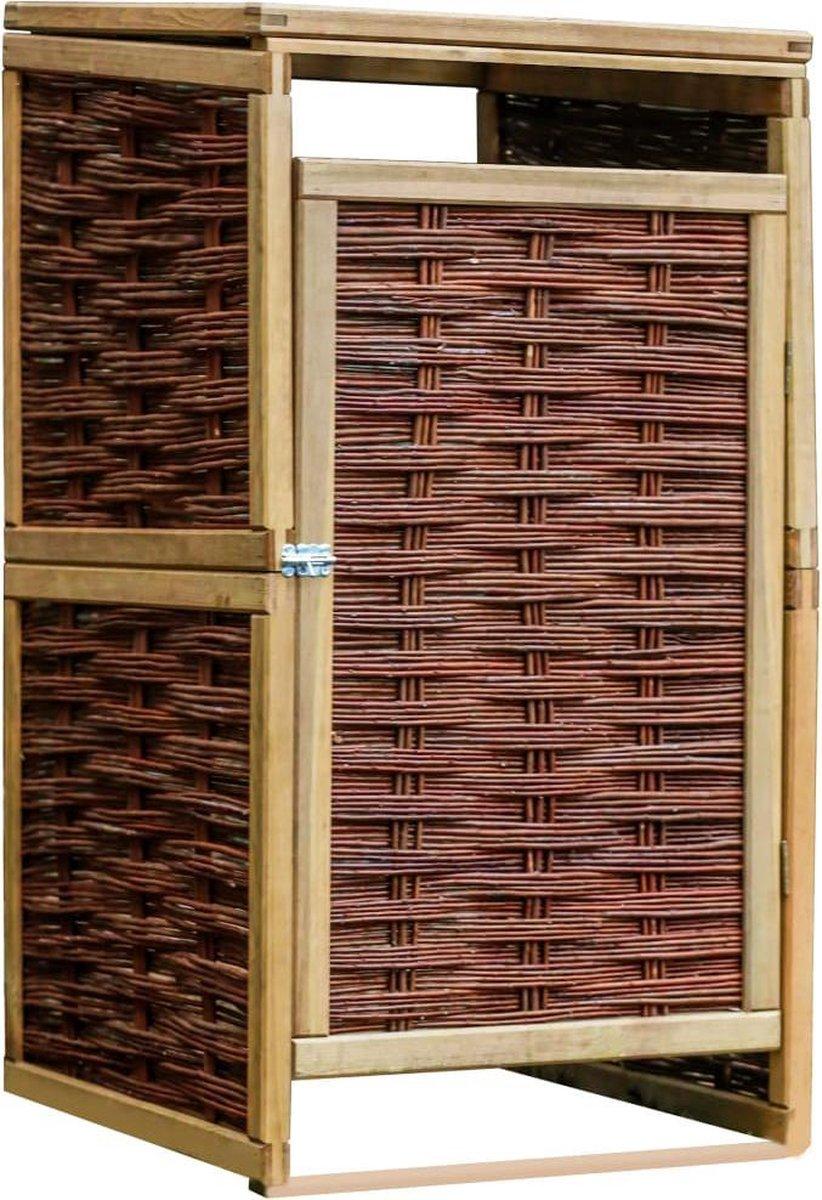 VidaXL Containerberging enkel grenenhout en wicker online kopen