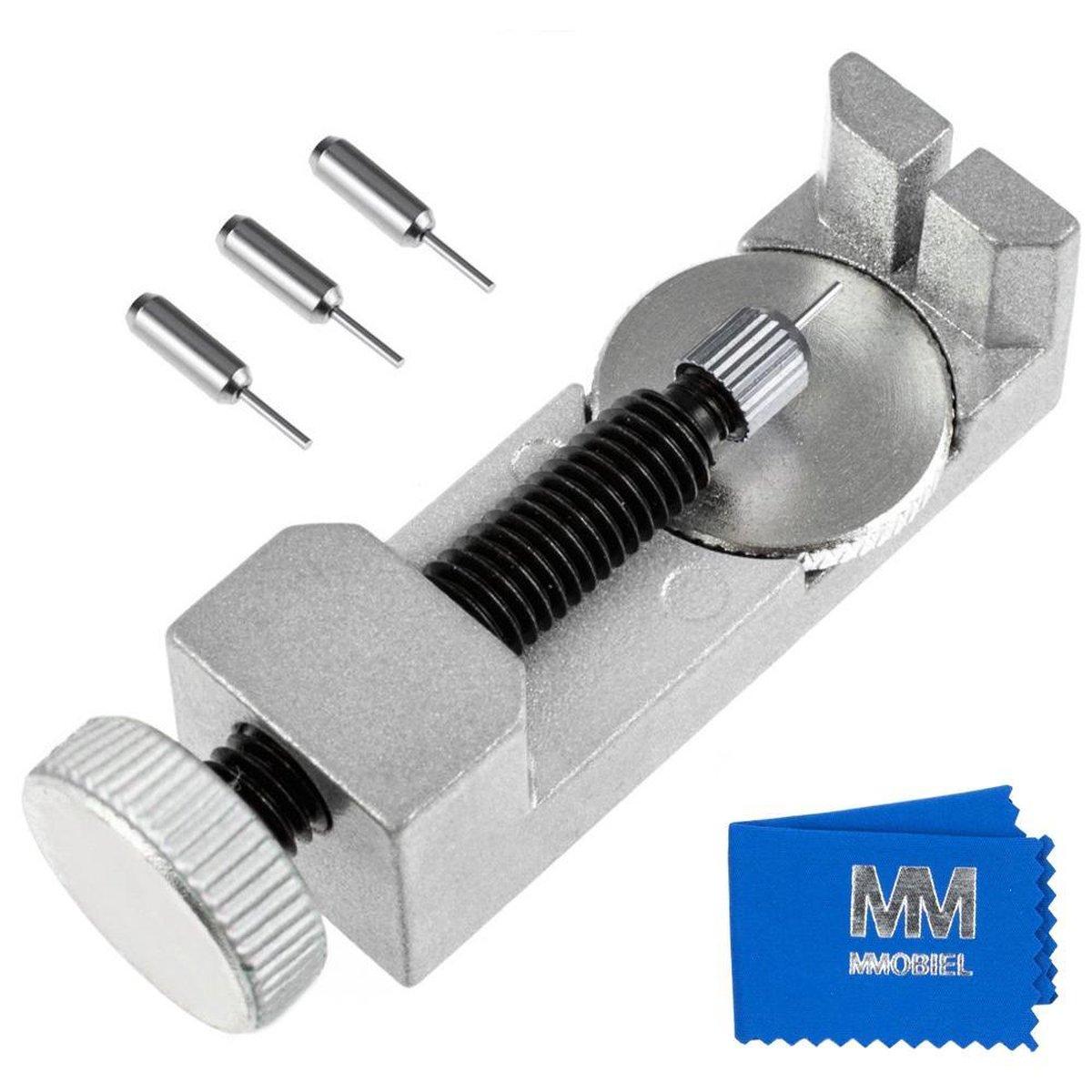 MMOBIEL Horloge Band Pin Verwijderaar Verstelbaar voor Horloge Reparaties incl. 3 Pinnen
