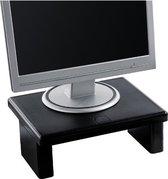Quantore Monitorstandaard - Tot 30 kg belastbaar - In hoogte verstelbaar - Zwart