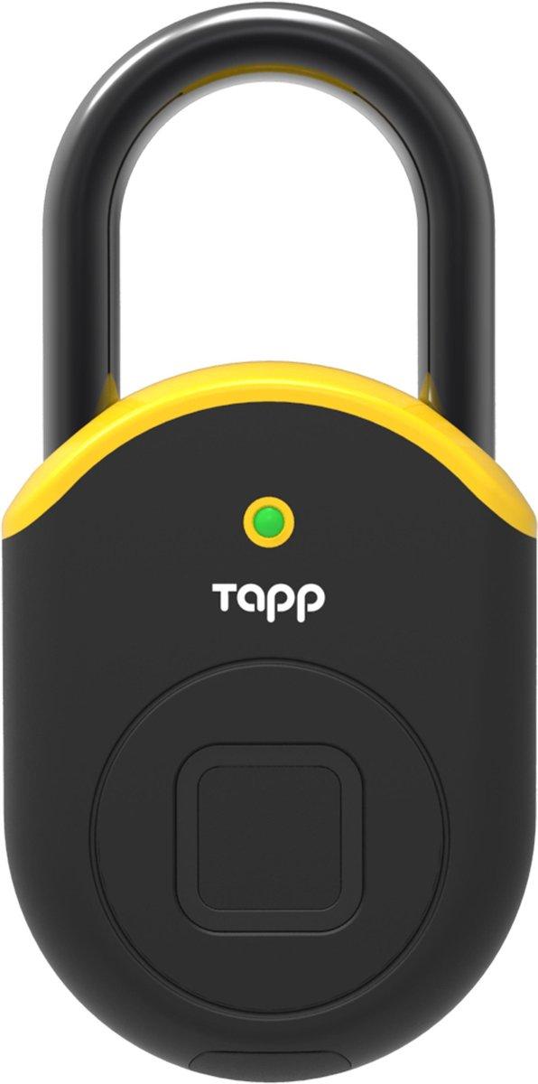 Tapplock Lite, Yellow. Premium en meest geavanceerde hangslot met vingerscan en bluetooth. duurzaam, licht, veilig en beschikt over de geavanceerde en unieke Tapplock vingerscantechnologie