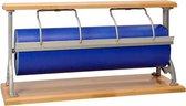 Papierrolhouder Tafelmodel Serie Beukenhout - Toonbankrol breedte 75 cm - m lang - Toonbankrol breedte 75  cm  - Glad mes voor papier - Vernikkelde beugel - MTok-TaB-T75B