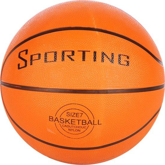 Bal Basketbal Oranje Maat 7