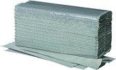 Papieren handdoekjes 1-laags grijs v-vouw 100% Recycled 5000 St.