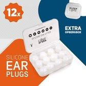 SleepCore® - 12x Slaap Oordopjes - Geluiddicht - Zwem Oordoppen - Slapen - Geluidsoverlast - Sound Plugs - Snurken - Anti Snurk - Slaaphulp - Geluid - Studeren - Gehoorbescherming - Earplugs- Lawaai - Waterdicht - Nacht - Kneedbare - Siliconen