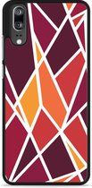 Huawei P20 Hardcase Hoesje Colorful Triangles