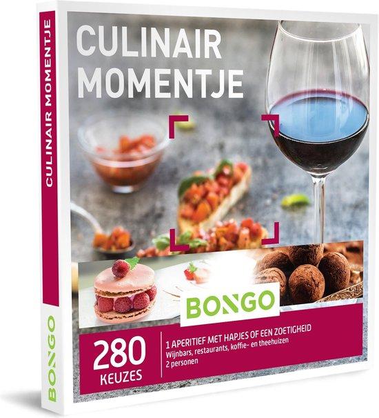Bongo Bon Nederland - Culinair Momentje Cadeaubon - Cadeaukaart cadeau voor man of vrouw | 280 culinaire momentjes in wijnbars, restaurants of koffie- en theehuizen