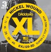 D'Addario EXL125-3D snaar voor muziekinstrumenten Gitaar Staal Electrisch 18 stuk(s)